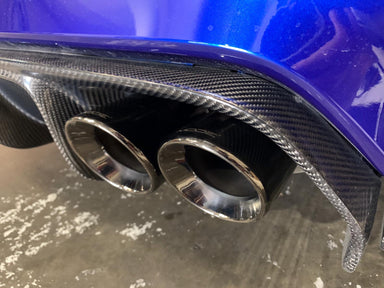 "MODE Design 3.75"" (98mm) Angle Cut Slip On Exhaust Tips suit BMW M3/M4 (F80/F82) & M2 Competition (F87) S55 - MODE Auto Concepts"