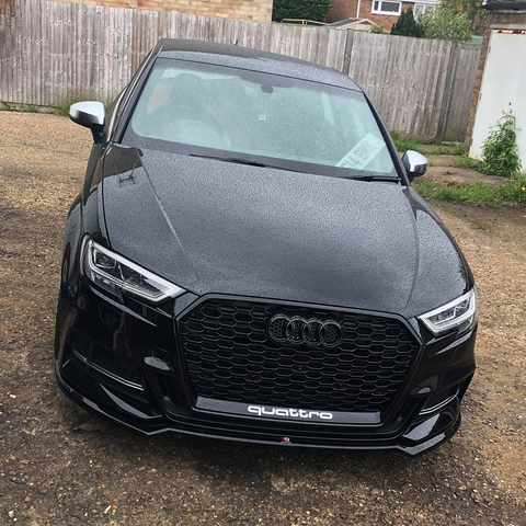 RS3 Style Black Honeycomb Grille suit Audi A3/S3 (8V) FL (Facelift) 2017-2020