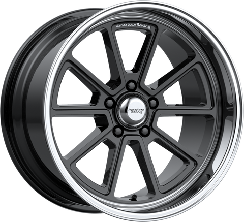 American Racing VN510 DRAFT 18x8 5x114.30 GLOSS BLACK W/ DIAMOND CUT LIP (0mm)