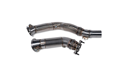 MODE Design Performance Downpipes w/ Heat Shield suits BMW M2 Competition F87 & M3/M4 F80/F82 S55