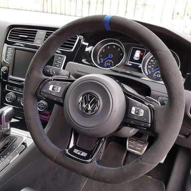 MODE DSG Paddles Custom Suede Steering Wheel Cover for VW Golf MK7 & MK7.5 - MODE Auto Concepts