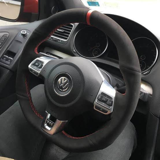 "MODE DSG Paddles ""Clubsport"" style Steering Wheel Cover for VW Golf MK6 GTI"