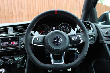 "MODE DSG Paddles ""Clubsport"" style Steering Wheel Cover for VW Golf MK7 & MK7.5 GTI - MODE Auto Concepts"