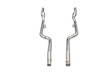 iPE - Front Pipe w/ Sport Cat suit Mercedes Benz CLS63 (C218/X218) (2011-2017) *Connects to OEM downpipe* - MODE Auto Concepts