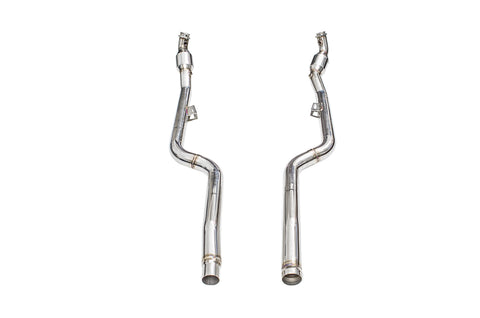 iPE - Front Pipe w/ Sport Cat suit Mercedes Benz CLS63 (C218/X218) (2011-2017) *Connects to OEM downpipe*