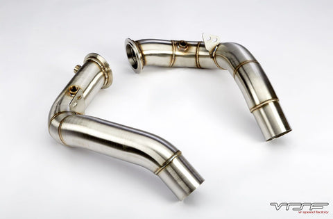 VRSF Stainless Steel Catless Downpipes suit V8 S63 X5M & X6M