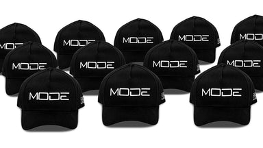 MODE Ltd. Edition 1/100 A-Frame Snapback Black w. White Logo - MODE Auto Concepts