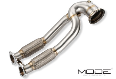 MODE Design Performance Decatted/Catless Downpipe suits Audi RS3 8V PFL - MODE Auto Concepts