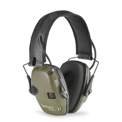 HOWARD LEIGHT IMPACT SPORT ELECTRONIC EAR MUFF OLIVE GREEN