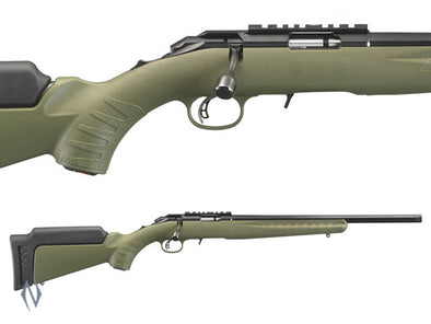 "RUGER AMERICAN RIMFIRE 22LR 18"" OD GREEN"
