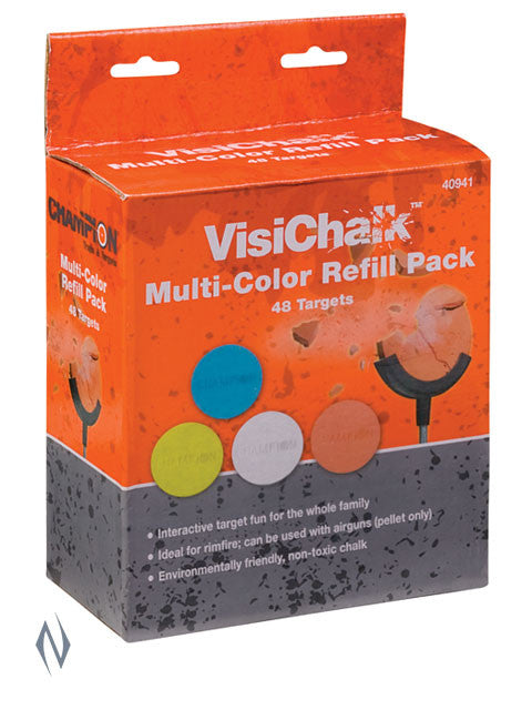 CHAMPION VISICHALK MULTI COLOUR REFILL 48PK