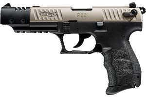 WALTHER P22Q 22LR TARGET NICKEL FINISH 127MM