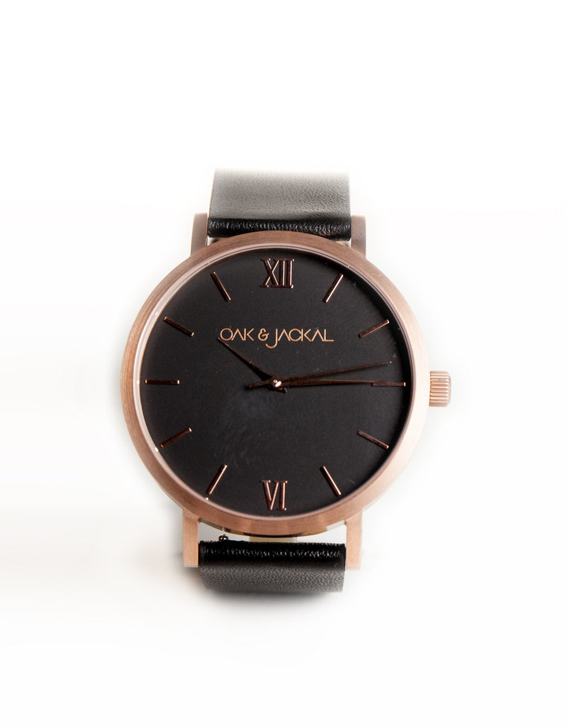 Rose Gold/Black Timepiece