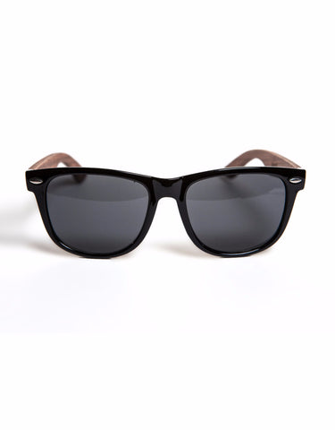Black/Walnut Wayfarer