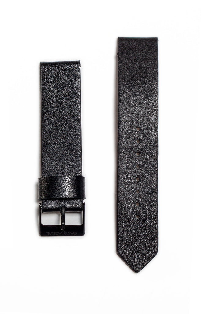 Black Synthetic Leather Strap