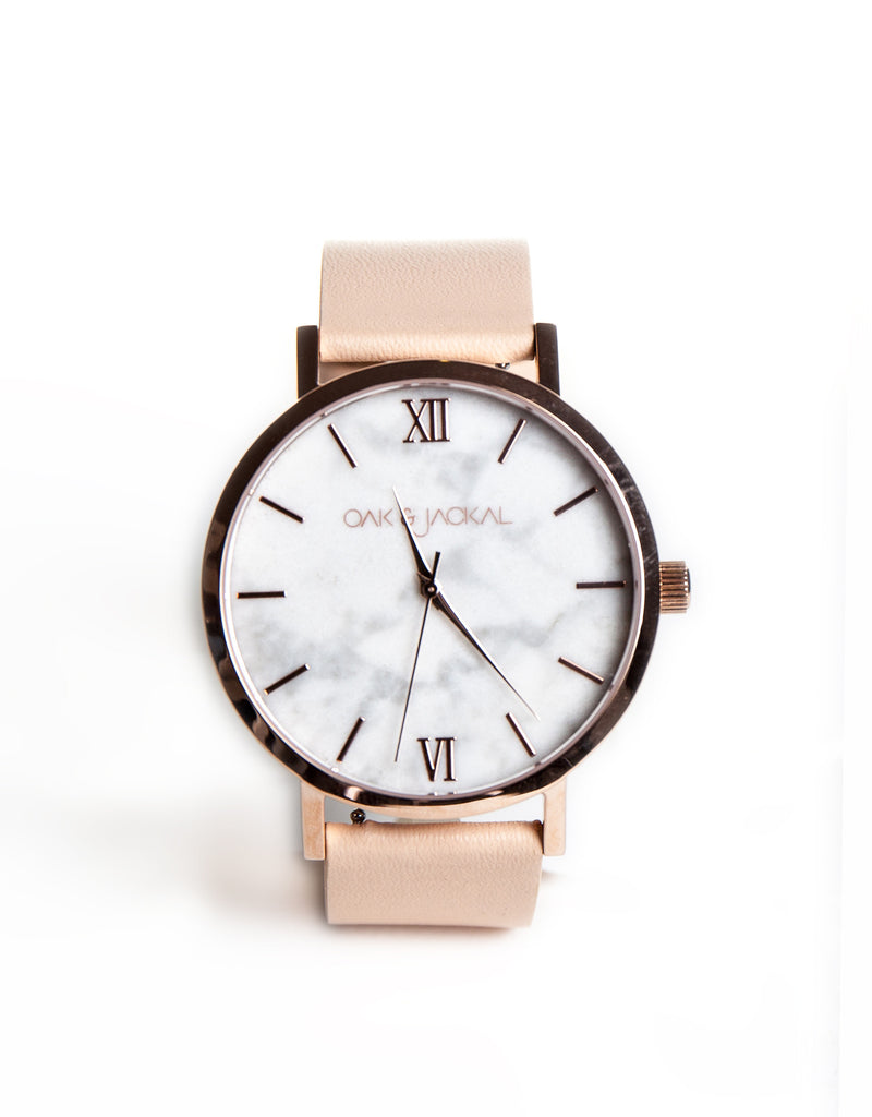 Rose Gold/Marble Timepiece