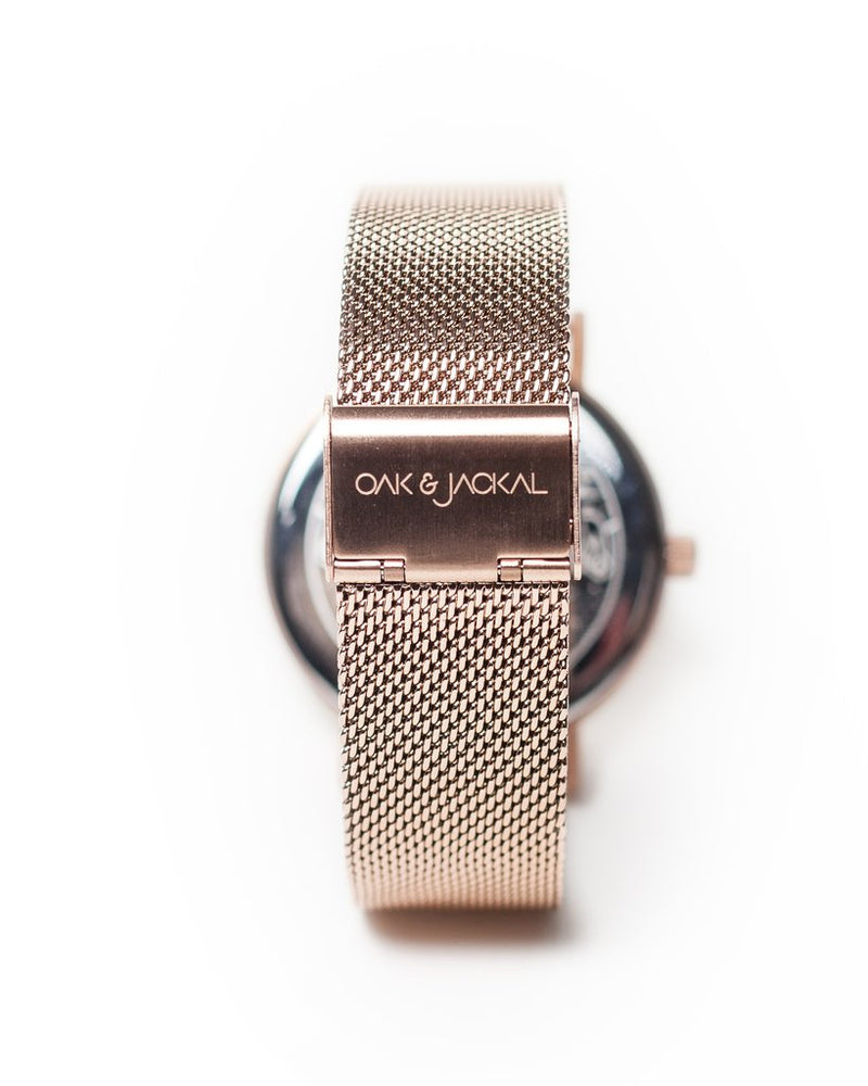 Mesh Rose Gold/Marble Timepiece