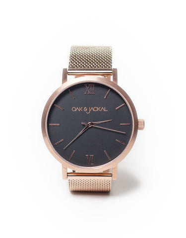 Mesh Rose Gold Timepiece