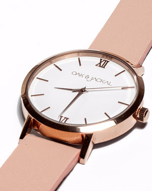 Rose Gold/Peach Timepiece