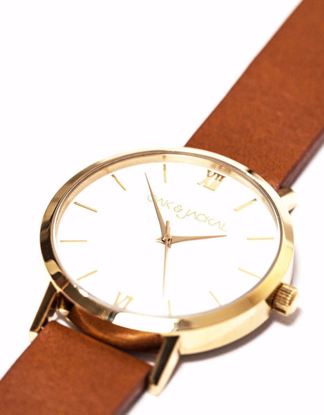 Vegan Gold/Tan Timepiece