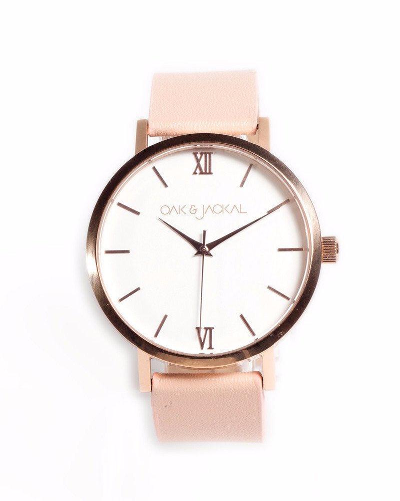 Vegan Rose Gold/Peach Timepiece