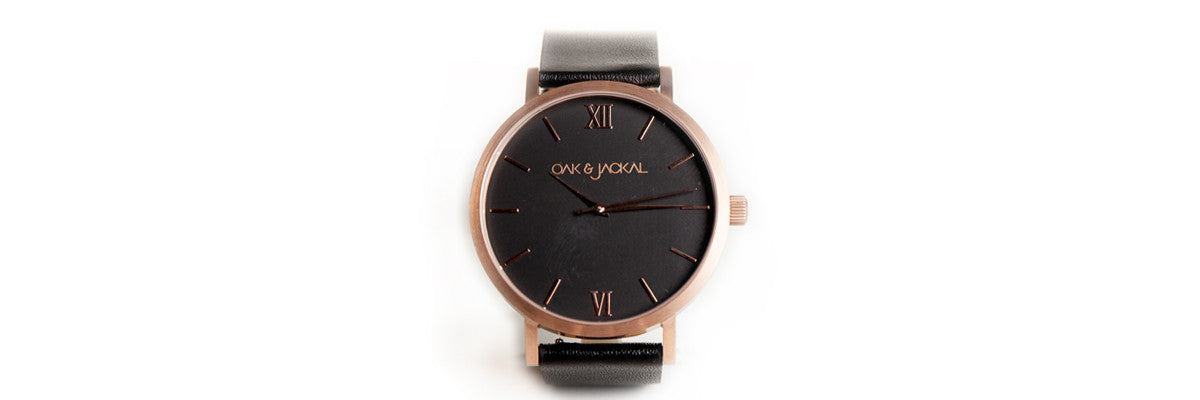 Rose Gold / Black Timepiece