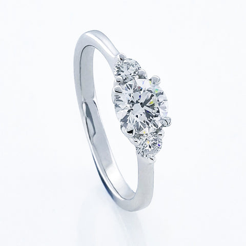 18KW Diamond Engagement Ring #374