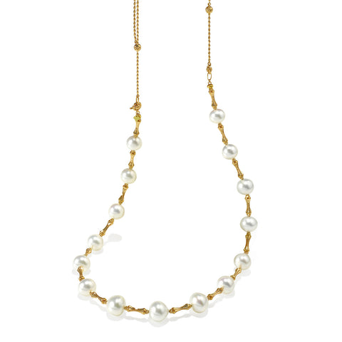 South Sea Pearl in 18KY Diamond Cut Necklace #210