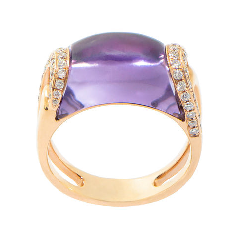 Amethyst with Diamond Ring #3