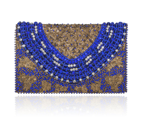 Hand Embroidered Envelope Clutch #19