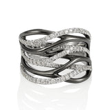 18KW Diamond layered Ring #1