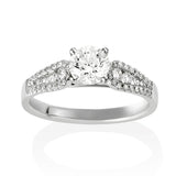 18KW Diamond Engagement Ring #230