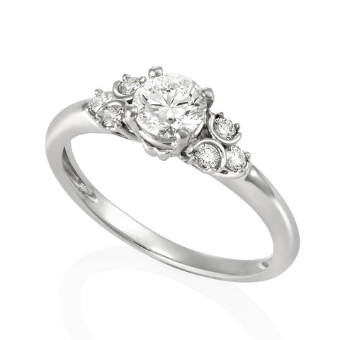 18KW Diamond Engagement Ring #229