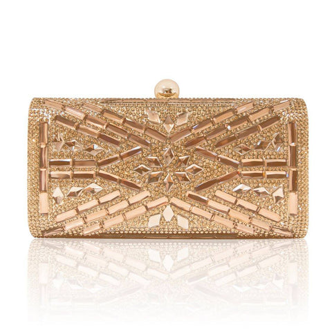 Champagne Crystals Clutch #1