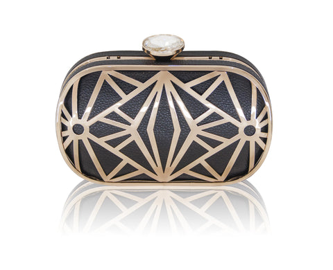 Classic Black Geometry Clutch #5