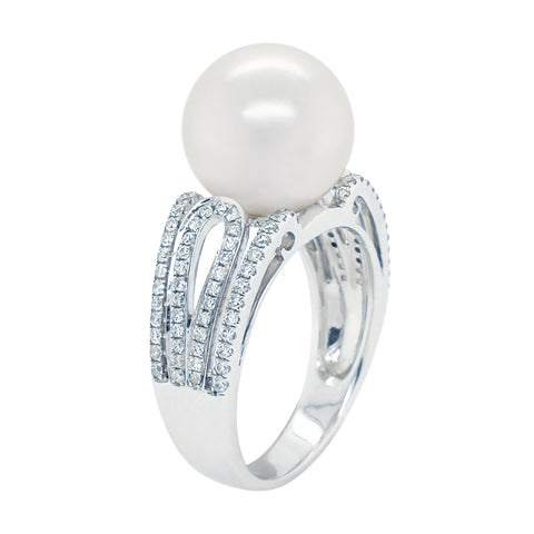 South Sea Pearl with Diamond Ring #66