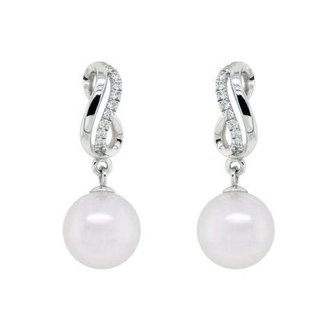 Akoya Pearl with Deamond Earrings #67