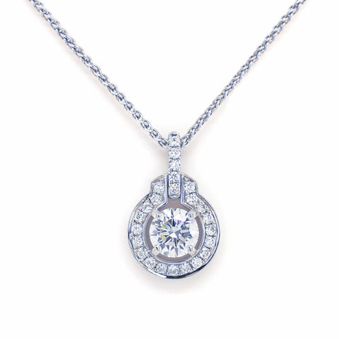 18K Gold Diamond Pendant #234