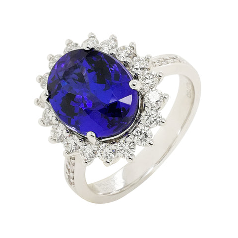 Tanzanite Diamond Ring #296