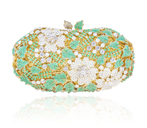Crystal Spring Clutch in Green #3