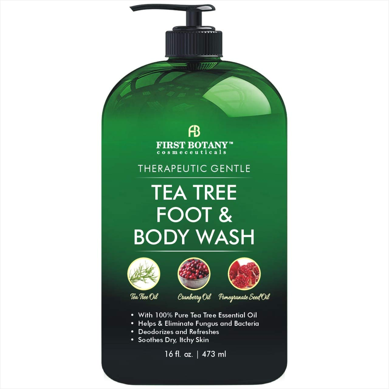 Antifungal Tea Tree Oil Body Wash - HUGE 16 OZ - 100% Pure & Natural
