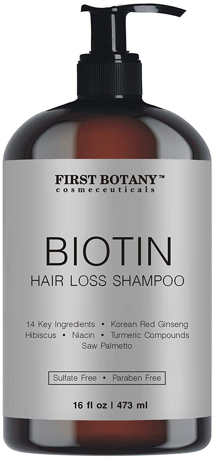 Hair Regrowth and Anti Hair Loss Shampoo 16 fl oz, with 14 DHT blockers- Daily Hydrating, Detoxifying, Volumizing Shampoo For Men and Women