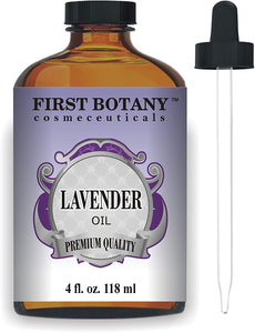 First Botany Cosmeceuticals Lavender Essential Oil with a Glass Dropper, 4 oz (Natural Isolates)