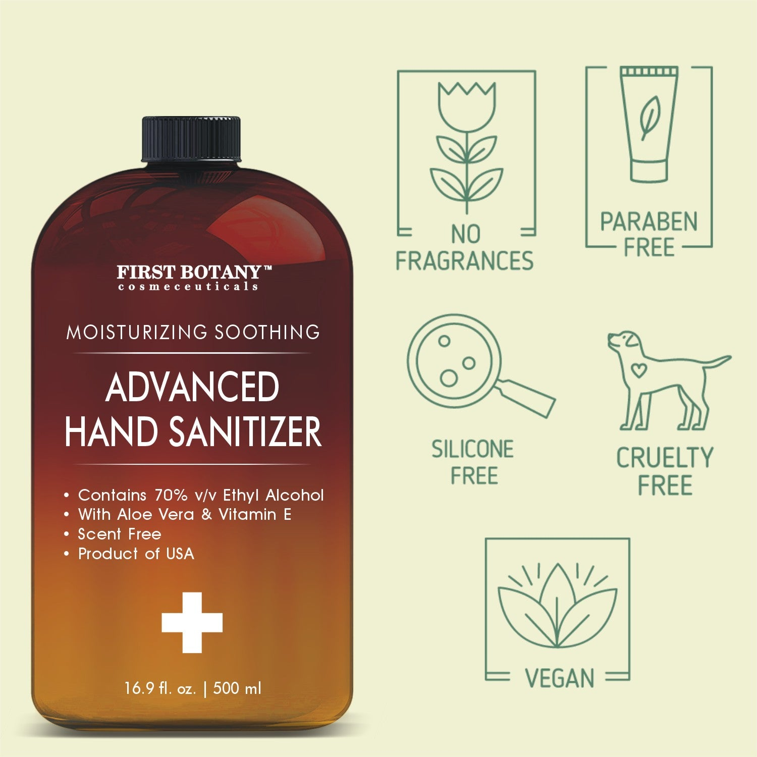 70% Alcohol Unscented Hand sanitizing Gel (2 Pack of 16.9 fl oz | 1000 ml) Kills 99.99% Germs No Water Required, Long-lasting Anti-Bacterial Hand Wash Quick Drying Liquid Hand Soap