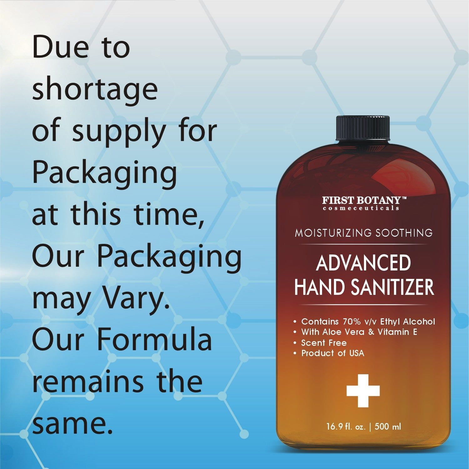 70% Alcohol Disposable Hand sanitizing Gel 500ml, Kills 99.99% Germs No Water Required, Long-lasting Anti-Bacterial Quick Drying Liquid Hand Soap