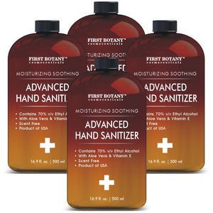 70% Alcohol Unscented Hand sanitizing Gel (4 Pack of 16.9 fl oz | 2000 ml) Kills 99.99% Germs No Water Required, Long-lasting Anti-Bacterial Hand Wash Quick Drying Liquid Hand Soap