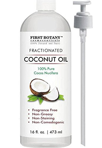 Fractionated Coconut Oil 16 fl. oz - 100% Natural & Pure MCT Coconut Oil