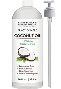 Fractionated Coconut Oil 16 fl. oz - 100% Natural & Pure MCT Coconut Oil for Hair, Skin,and Aromatherapy Carrier Oil, Massage Oil,Best Skin Moisturizer – UV Resistant BPA Free Bottle