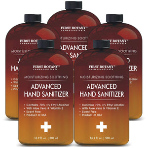 Bulk Size(Pack of 5) Hand Sanitizing Advanced Gel with Dispensing top; Infused with Aloe Vera Gel Sanitize Gel/Hand Wash/Hand Soap/Hand Lotion