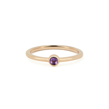 AMETHYST BIRTHSTONE BAND